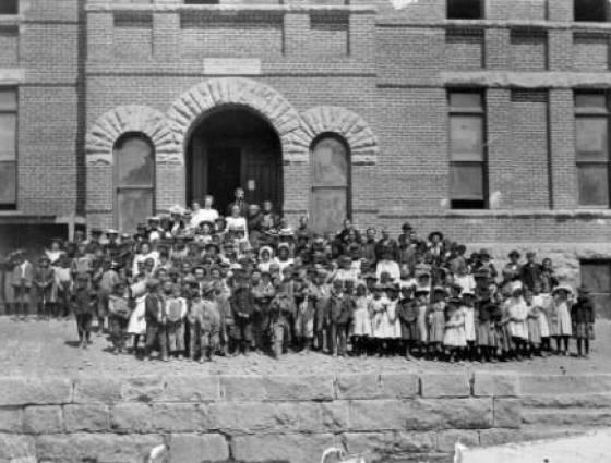 X- 2165 Silver Plume school, 1894.