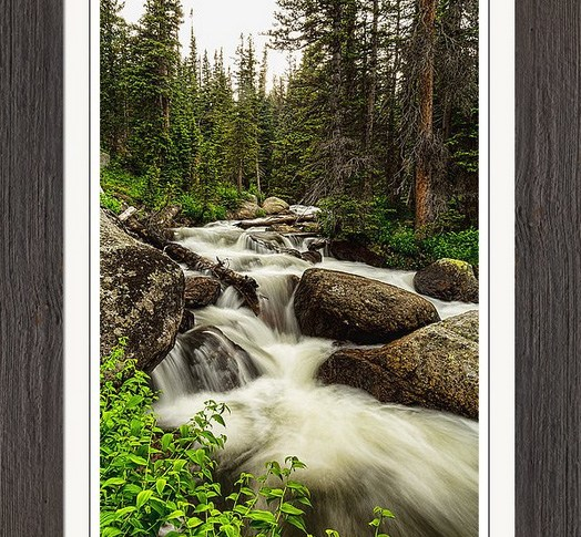 Colorado Nature Waterworks Framed Print