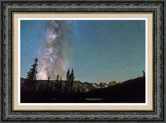Milky Way Above The Rocky Mountains Framed Print