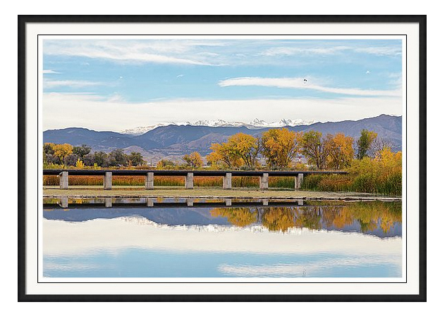 Autumn Lines Continental Divide And Sky Diver Framed Print