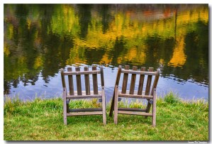 Autumn Season Lake View For Two