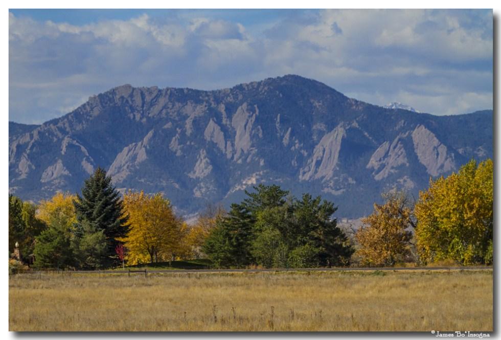Boulder Colorado Autumn Flatiron Afternoon