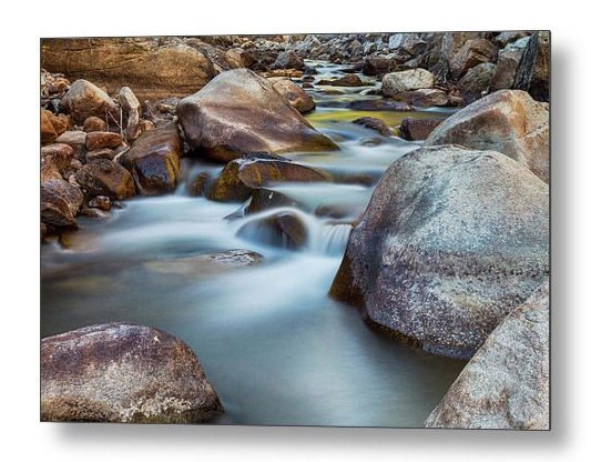 Colorado St Vrain Streaming Metal Art Print