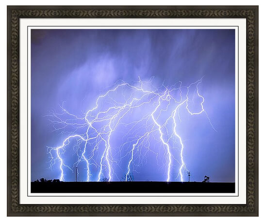 Lightning Electrical Sky Framed Print