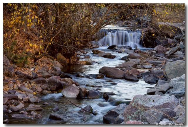 Waterfall On Beautiful Boulder Creek
