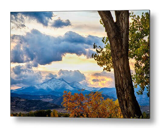 Colorado Rocky Mountain Twin Peaks Autumn View Metal Print