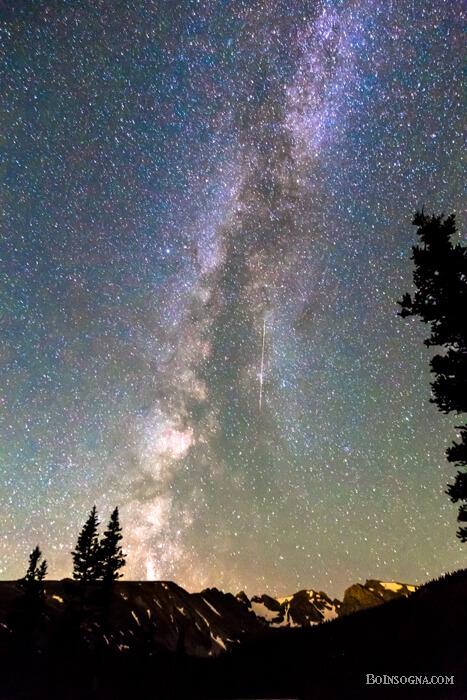 Majestic Rocky Mountain Milky Way And A Falling Star Fine Art Prints