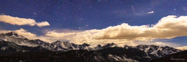 Rocky Mountain Star Gazing Panorama