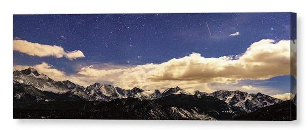Rocky Mountain Star Gazing Panorama Canvas Print