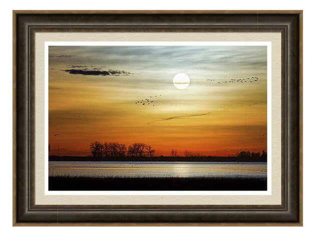 Beautiful Lake Morning Framed Print