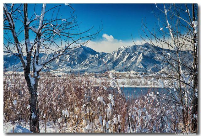 Boulder Colorado Winter Season Scenic View Metal Print