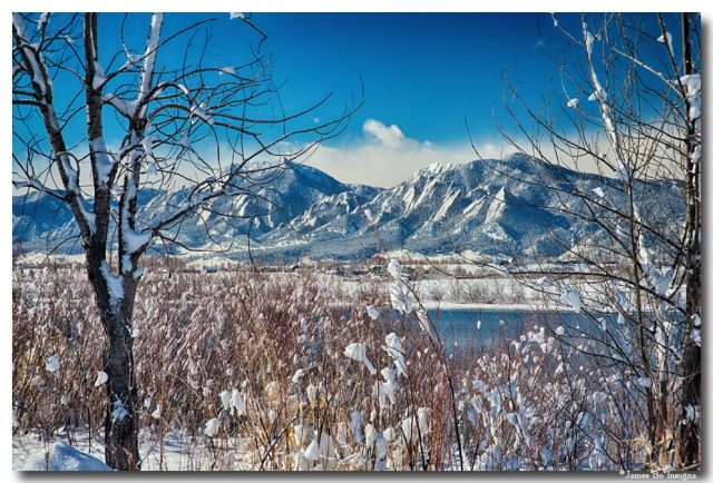 Boulder Colorado Winter Season Scenic View Metal Print