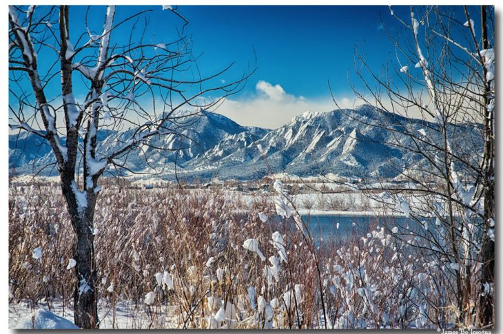 oulder Colorado Winter Season Scenic View