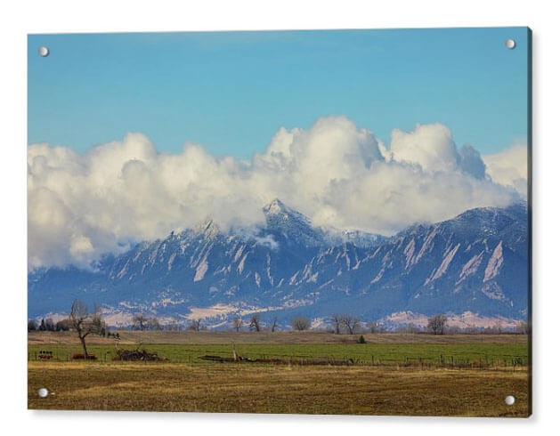 Boulder Colorado Front Range Cloud Pile On Acrylic Print