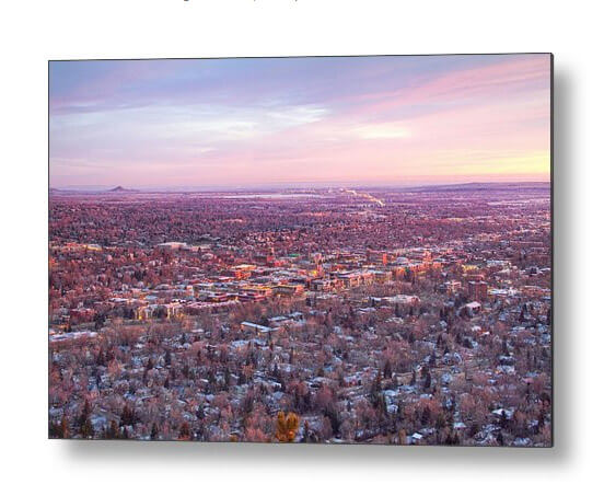 Downtown Boulder Colorado Morning View Metal Print