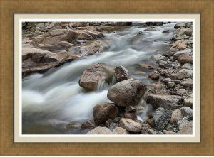 Easy Flowing Creek Framed Print