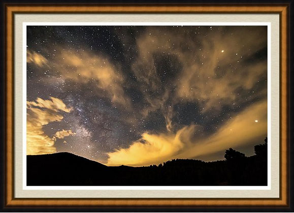 Milky Way Magical Night Framed Art Print