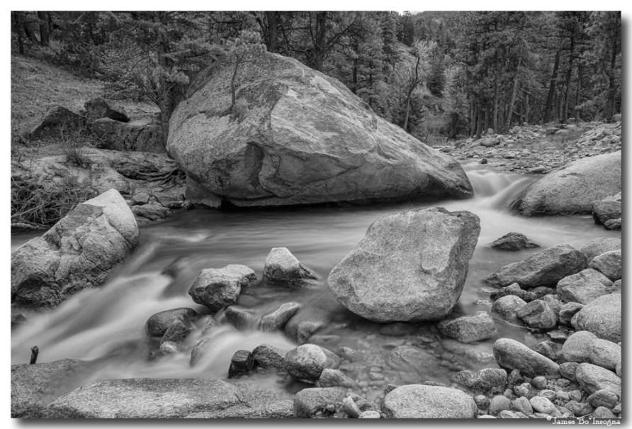 Soothing Colorado Monochrome Wilderness Art Prints