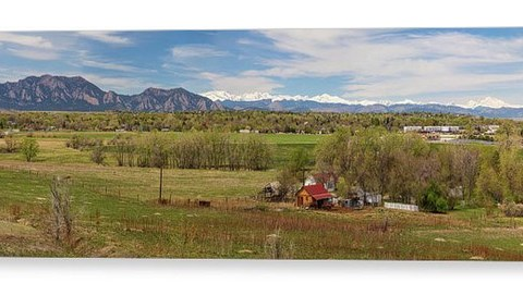 oulder Louisville Lafayette Colorado Front Range Panorama Canvas