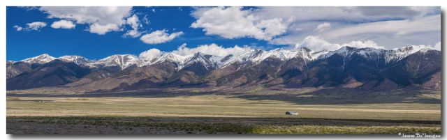 Colorado San de Cristo Mountains Panorama View Art