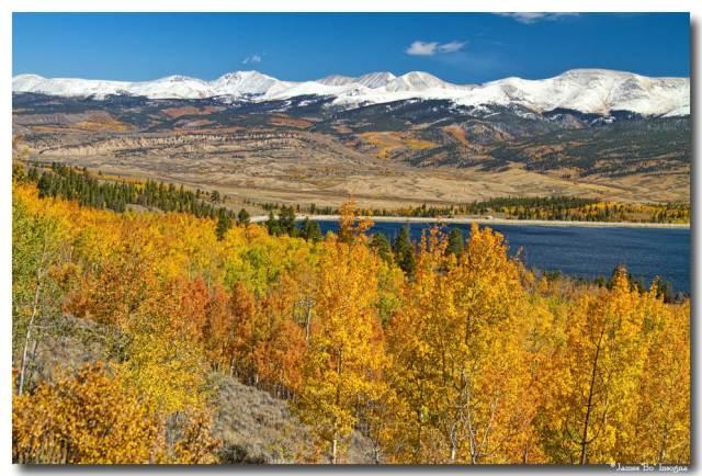 Autumn Landscape View Twin Lakes Colorado Art Prints
