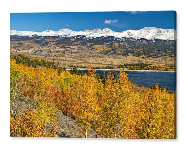 Autumn Landscape View Twin Lakes Colorado