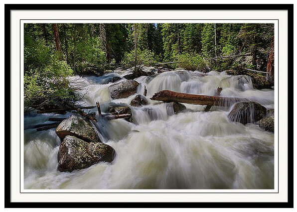 Streaming Dreaming Cascading Stream Framed Print