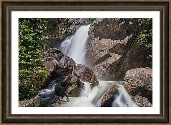 Colorado Ouzel Waterfalls Framed Print