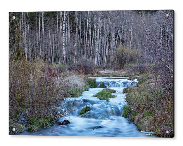 Blue Hour Flowing Down From Bonanza Acrylic Print