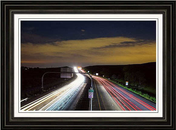 Highway 36 Express Lane Framed Print
