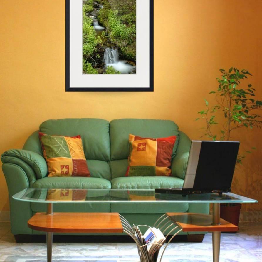 Green Refreshing Wilderness Canvas Print
