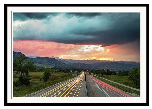 Highway 36 To Beautiful Boulder Colorado Art Print