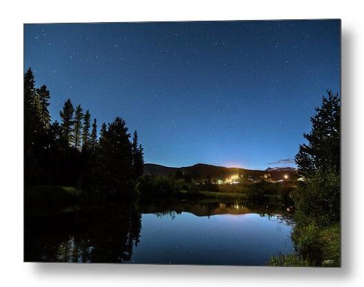 Rollinsville Colorado Starlight View Metal Print