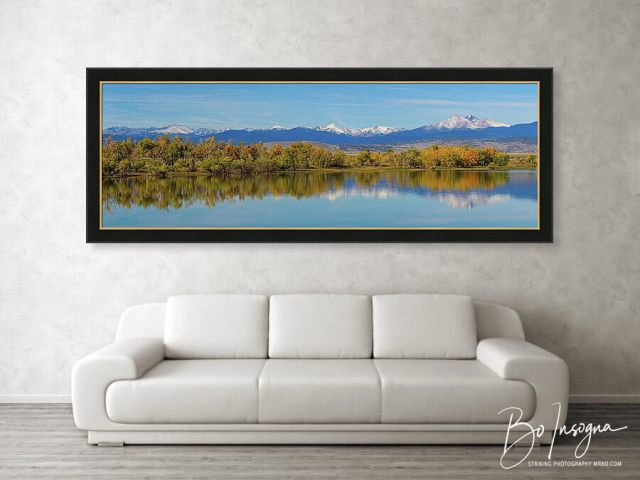 Rocky Mountain Front Range Autumn Panorama Large Panorama Framed Print