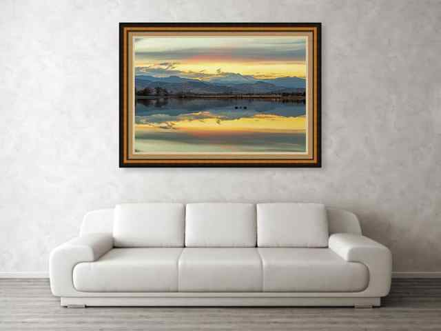 Marvelous Mccall Lake Longs Peak Reflections Art Print
