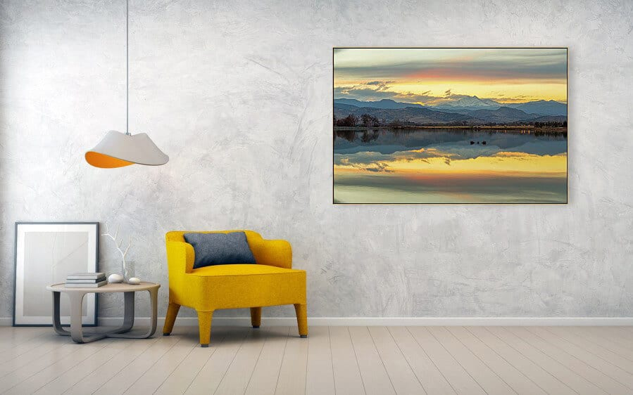 Marvelous Lake Reflections Of Longs Peak Art Prints