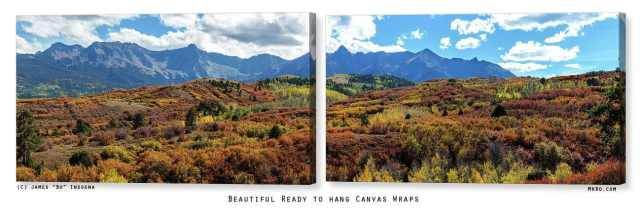 Colorado Painted Landscape Panorama canvas print