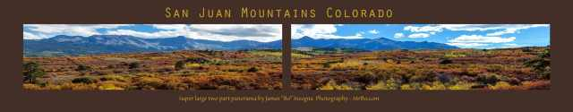 Colorado San Juan Mountains Painted Landscape Panorama Art Print