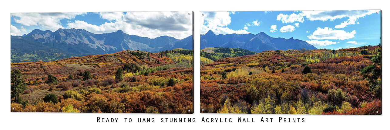 Colorful San Juan Mountains Large Two Part Panorama Art Print