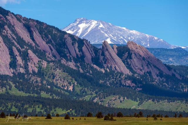 Boulder Flatirons and Longs Peak fine art print