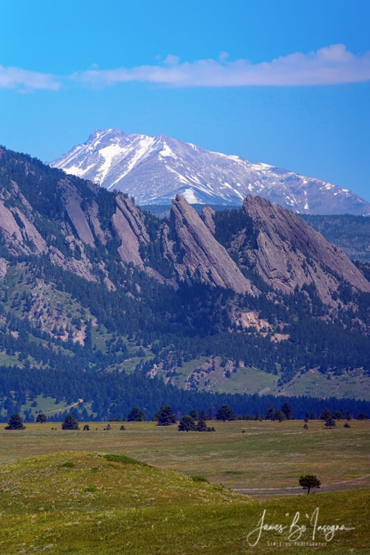 Boulder Colorado Flatirons Pointing To Longs Peak