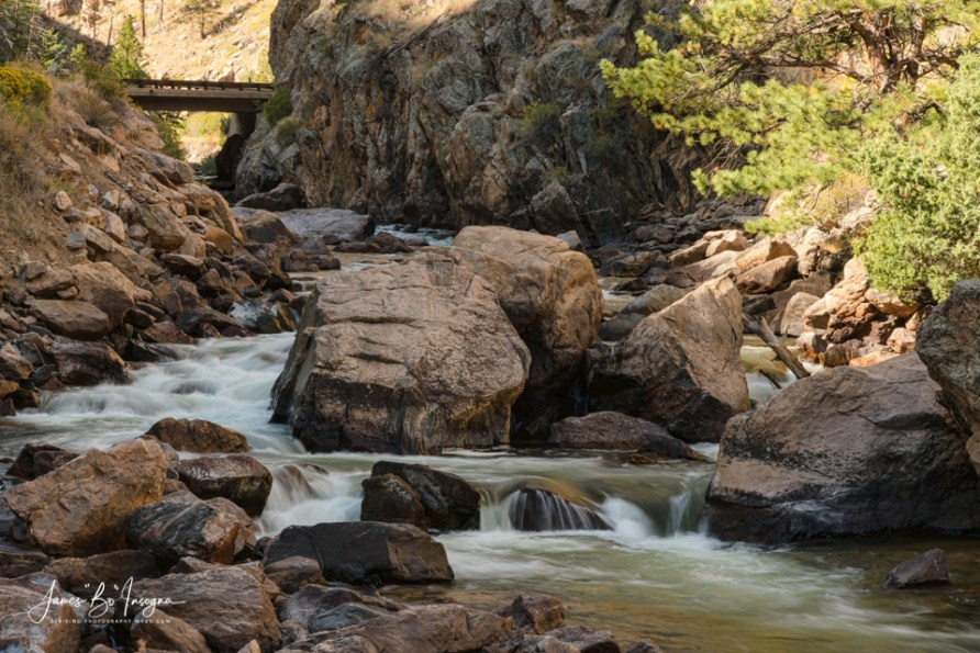 Bridge Over Cache La Poudre River Art Print