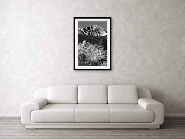 Longs Peak 14256 Ft Framed art Print