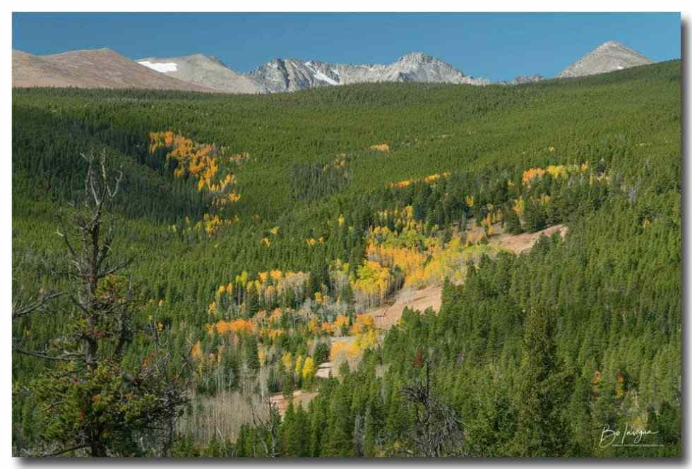 Indian Peaks Autumn Landscape View Art Print