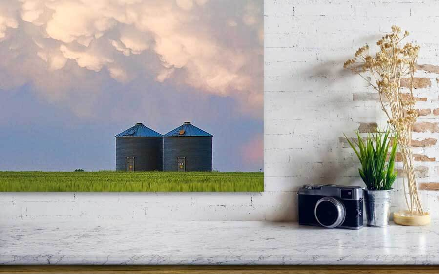 Mammatus Country Landscape Acrylic Print