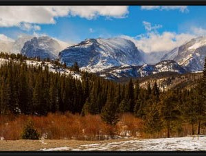 Rocky Mountain Panoramic View Bear Lake Rd Canvas Print