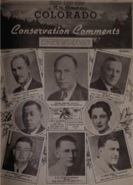 Original Colorado Outdoors Magazine Cover from 1938