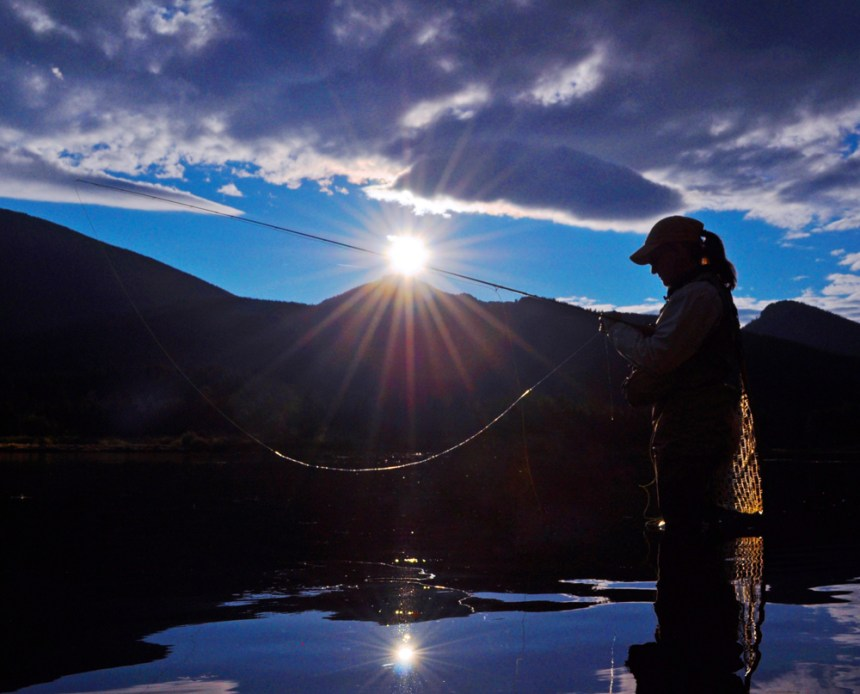 Fishing guide Iolanthe Culjak in Rocky Mountain National Park. Photo by Jerry L. Neal/CPW