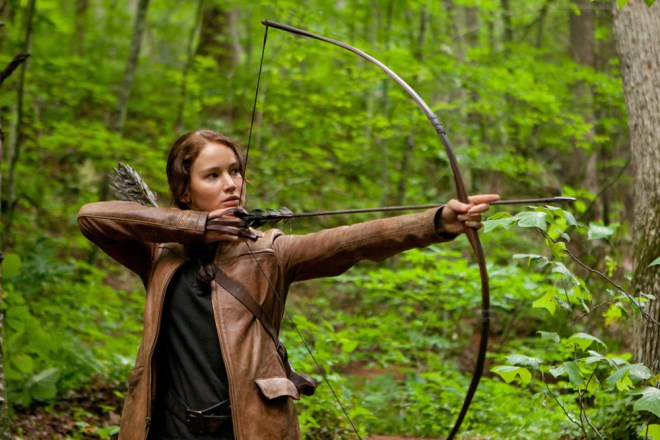 "Katniss Everdeen in ""The Hunger Games."""
