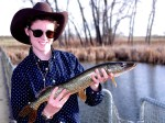 Will Kane showcases a pike caught from Lake Mary. © Jerry Neal